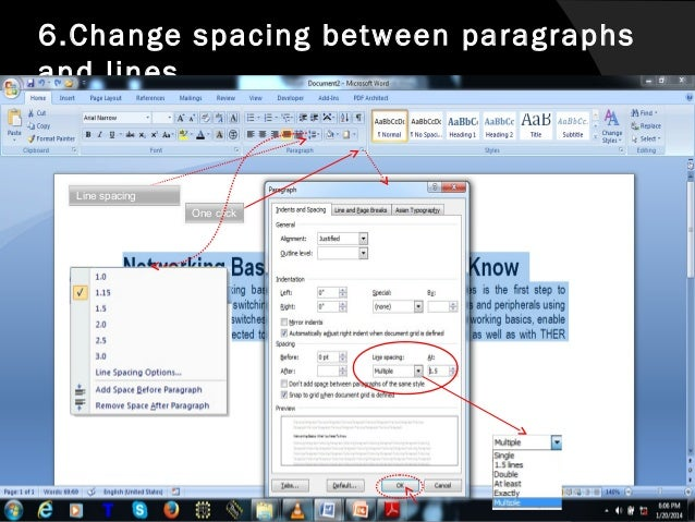 removing word document paragraph formatting