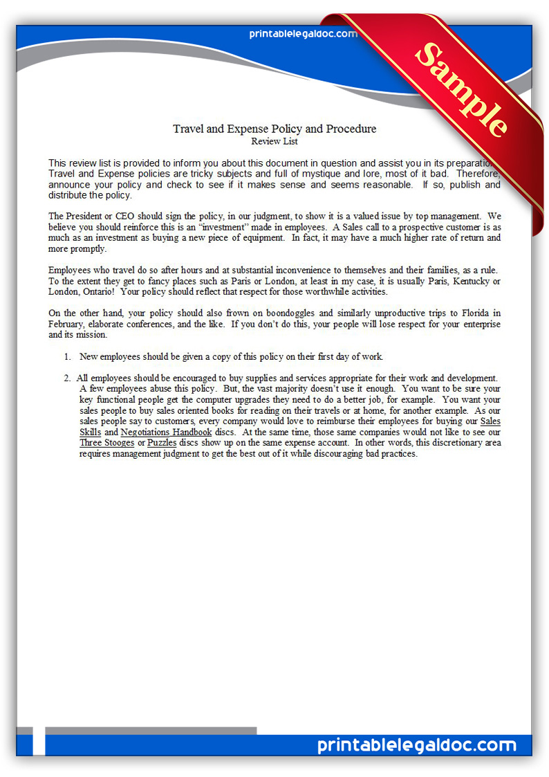 document management policy and procedure