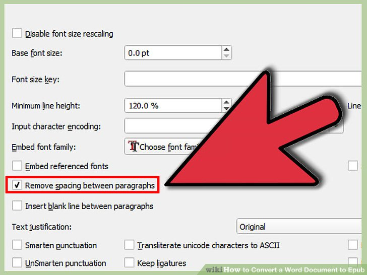 how to convert word document to ebook format