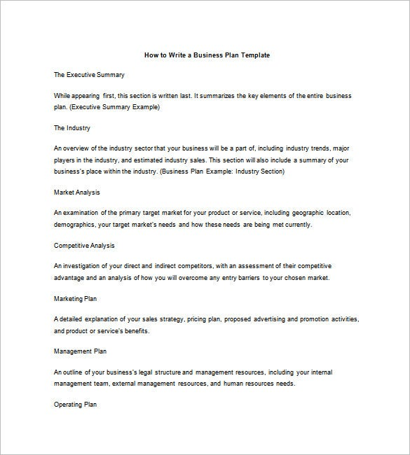 how to write test plan document