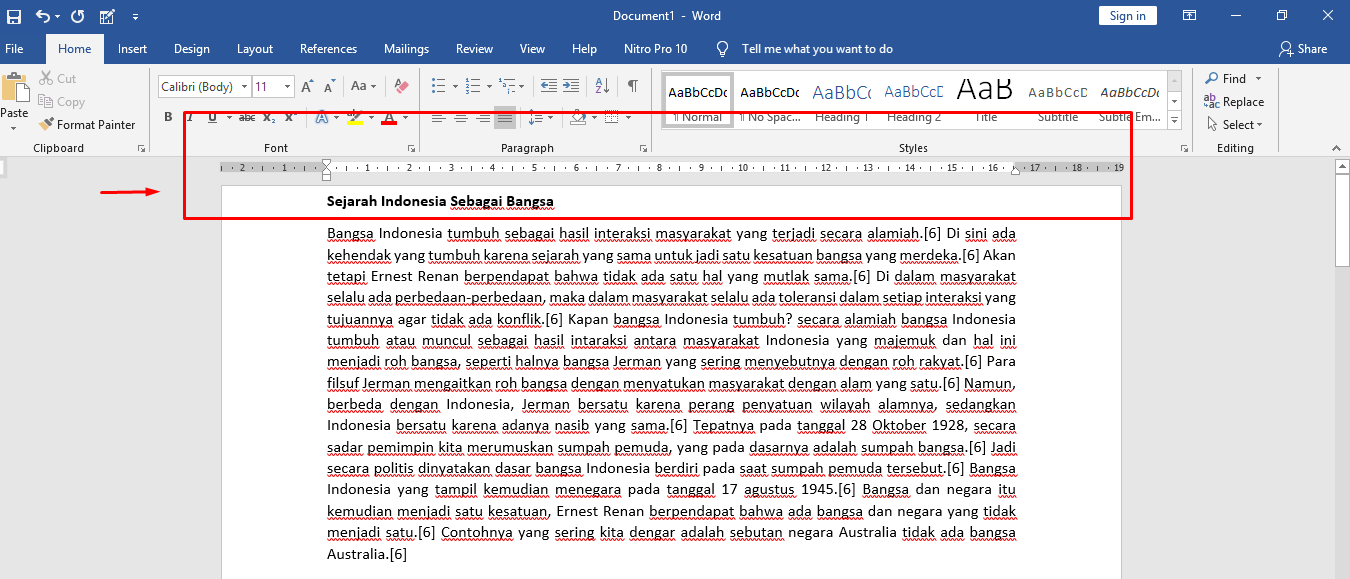 normal margin for a word document