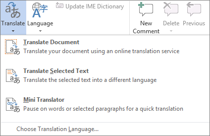 how to get a document translated into english