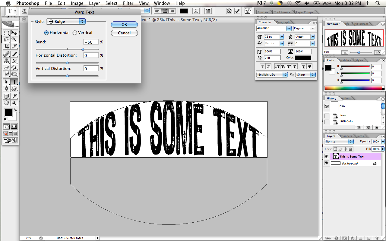 how to photoshop a document