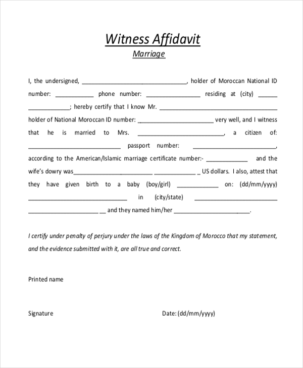 sample document in manitoba for witnessing a signature