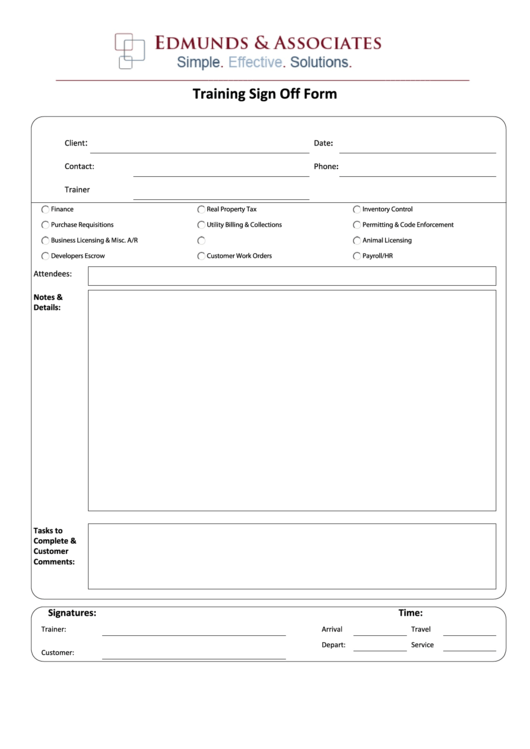 it sign off document template