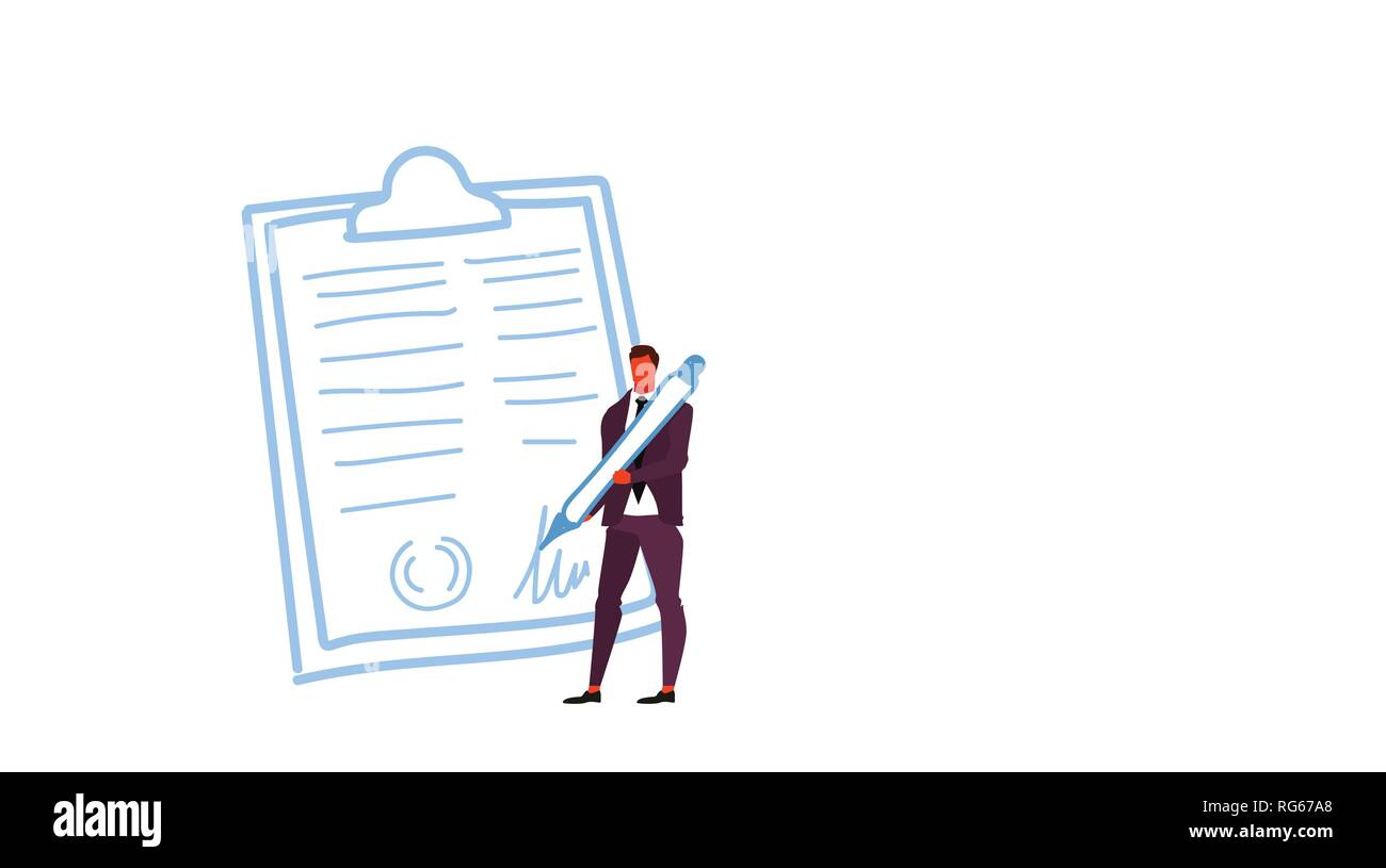 how to sign a business document for your boss