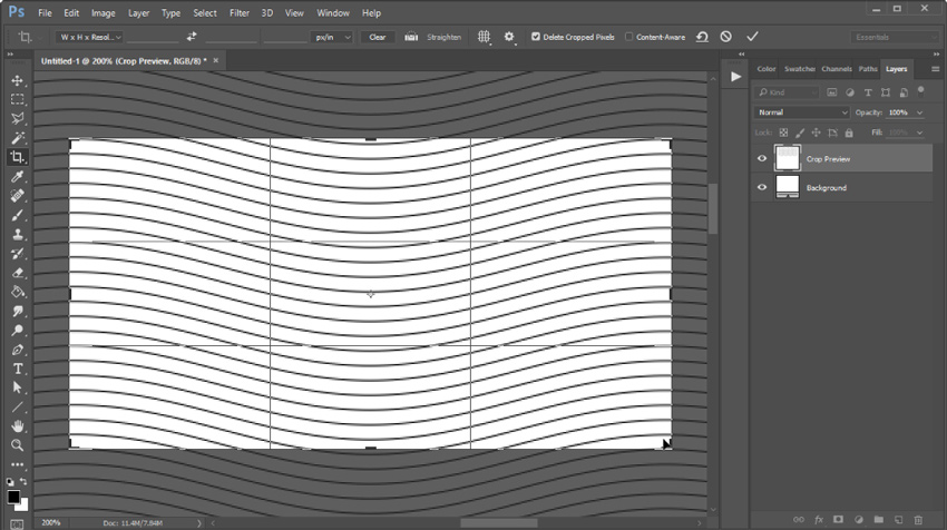 photoshop crop image and open in new document