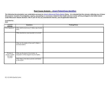 root cause analysis guidance document
